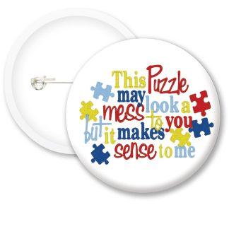 Autism Awarness Button Badges