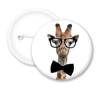 Geek Giraffe Button Badges