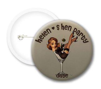 Hen Party Button Badges