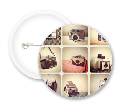 Vintage Camera Collection Button Badges