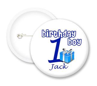 Birthday Boy Button Badges