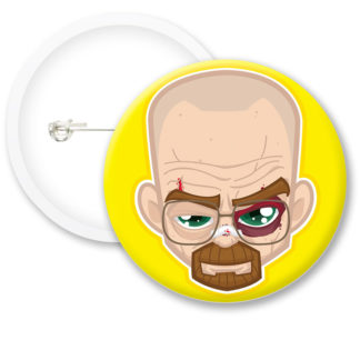 Breaking Bad Walter Illustrated White Button Badges