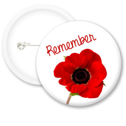 Remembrance Day Poppies Button Badges