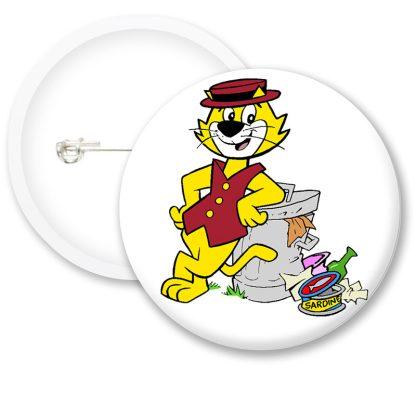 Top Cat Bin Button Badges