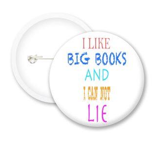 I Like Big Books Button Badges