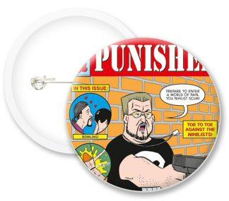 Punisher Comic Book Comics Button Badges