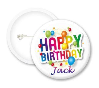 Happy Birthday Button Badges