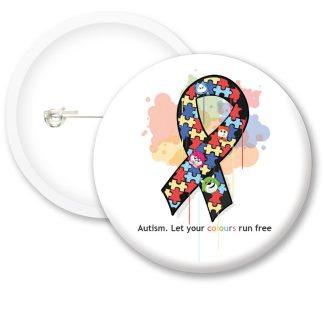 Autism Awarness Colours Button Badges