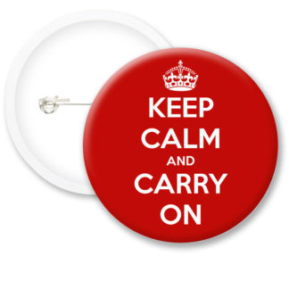 Keep Calm and Carry On Button Badges
