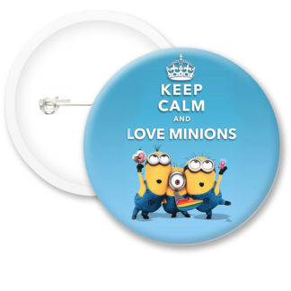 Keep Calm and Love Minions Button Badges