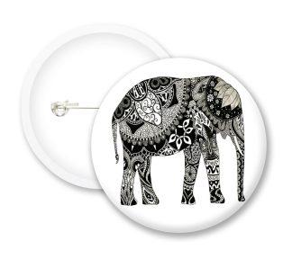 Elephant Button Badges
