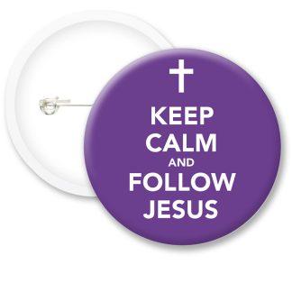 Keep Calm and Follow.. Button Badges