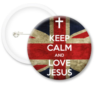Keep Calm and Love Jesus Button Badges