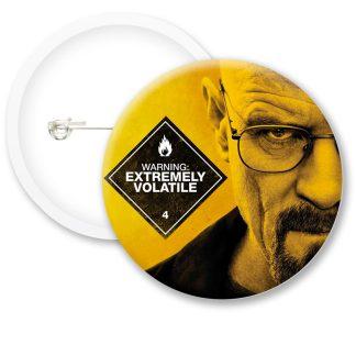 Breaking Bad Walter White Warning Button Badges
