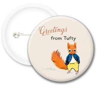 Tufty Club Retro Style2 Button Badges