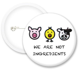 We Are Not Ingredients Button Badges