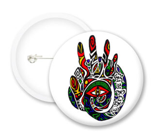 Hand Print Button Badges