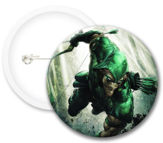 The Green Arrow Style2 Comics Button Badges