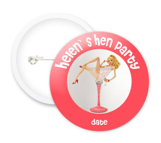 Hen Party Style1 Button Badges