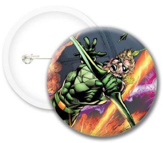 Greenarrow Style1 Comics Button Badges