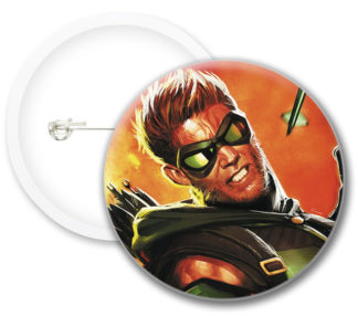 Greenarrow Style2 Comics Button Badges