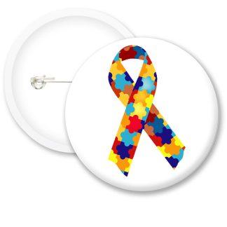 Autism Awarness Puzzle Button Badges