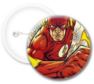 Flash Style1 Comics Button Badges