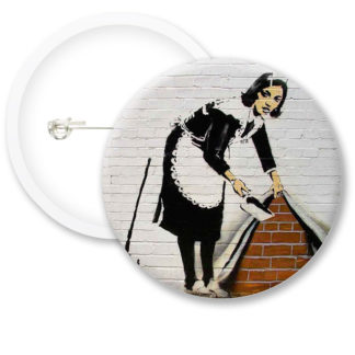 Banksy Wall Button Badges