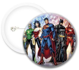 Justice League New Comics Button Badges