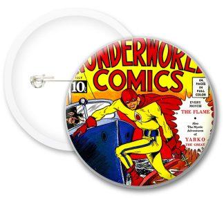 Wonderworld Comics Button Badges