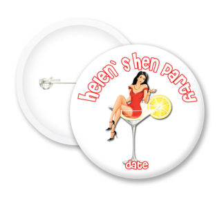 Hen Party Style6 Button Badges