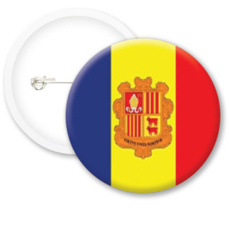 Andorra Worlds Flags Button Badges