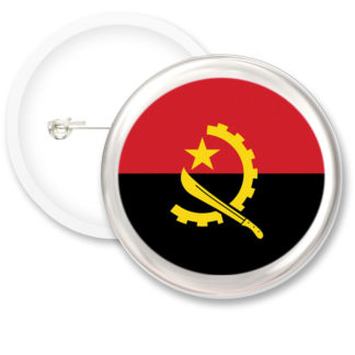 Angola Worlds Flags Button Badges