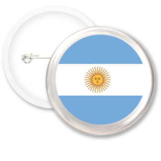 Argentina Worlds Flags Button Badges