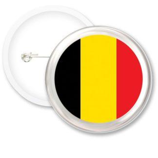 Belgium Worlds Flags Button Badges