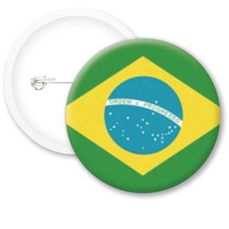 Brasil Worlds Flags Button Badges