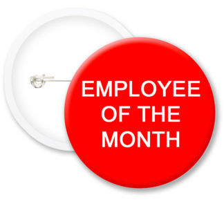 Employee Of The Month Button Badges