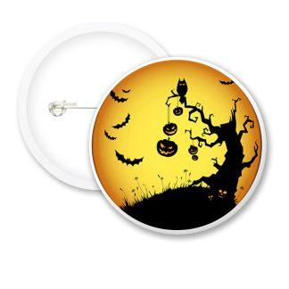 Halloween Pumpkin Tree Button Badges