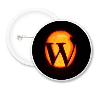 Halloween Pumpkin W Button Badges