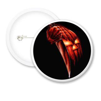 Halloween Pumpkin Knife Button Badges