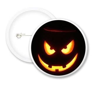 Halloween Pumpkin Face Button Badges