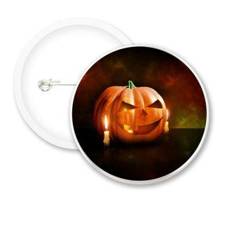 Halloween Pumpkin Candles Button Badges