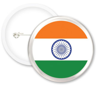 India Worlds Flags Button Badges