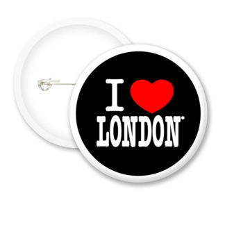I Love London Style1 Button Badges