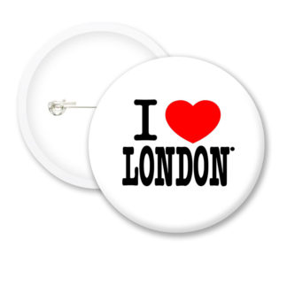 I Love London Style2 Button Badges