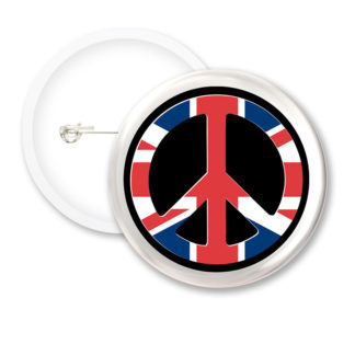 I Love London Peace Button Badges