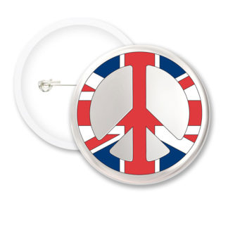 I Love London Peace White BG Button Badges