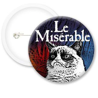 Le Miserable Grumpy Cat Button Badges