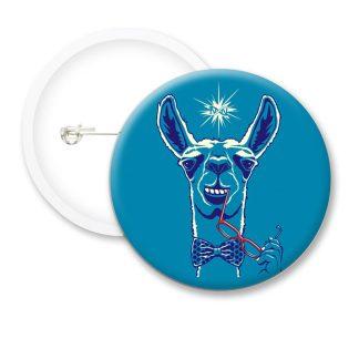 Llama Sexy Funny Button Badges