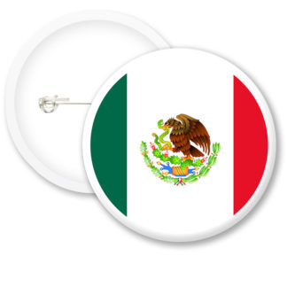 Mexico Worlds Flags Button Badges